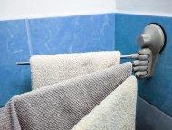Věšák do koupelny - šedý VÝPRODEJ