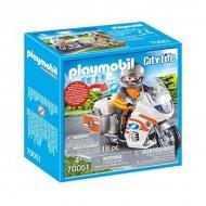 Playset City Life Emergency Bike Playmobil 70051 (18 pcs)