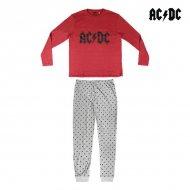 Pyžamo AC/DC Dospělý Šedý Burgundská - S