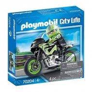 Playset City Life Moto Playmobil 70204 (4 pcs)