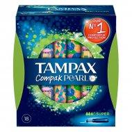 super tampóny Pearl Compak Tampax (18 uds)