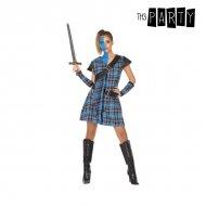 Kostým pro dospělé Skotka Modrý (4 Pcs) - XL