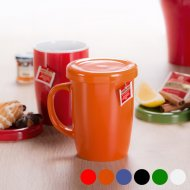 Hrnek s víkem (380 ml) 144706 - Oranžový