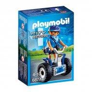 Akční postava City Action Police Balance Racer Playmobil 6877 Modrý