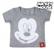 Děstké Tričko s krátkým rukávem Mickey Mouse Šedý - 6 měsíců