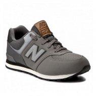 Dětské vycházkové boty New Balance KL574YHG Šedý - 38,5