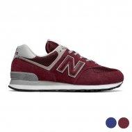 Pánské vycházkové boty New Balance ML574EG - Vínový, 40,5