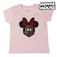 Děstké Tričko s krátkým rukávem Minnie Mouse Růžový Filtry - 4 roky
