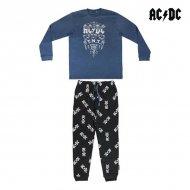 Pyžamo AC/DC Dospělý Modrý Černý - L