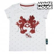 Děstké Tričko s krátkým rukávem Minnie Mouse Bílý - 8 roků