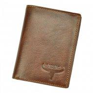 Kožená pánská peněženka koňaková hnědá RFID v krabičce BUFFALO WILD