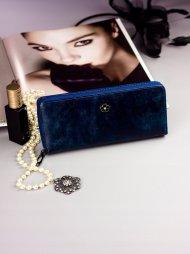 Cavaldi modrá dámská peněženka kůže/PU v dárkové krabičce
