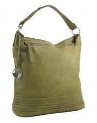 Olivově zelená dámská kabelka / velká crossbody 3883-MM