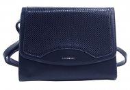 Tmavě modrá crossbody dámská kabelka v hadím designu NEW BERRY