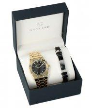 SKYLINE pánská dárková sada hodinky s náramkem 2850-7