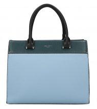 DAVID JONES modrá dámská kabelka se třemi sekcemi 6217-2