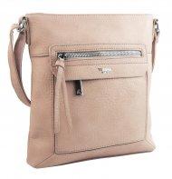 Crossbody dámská kabelka pastelová růžová 5593-TS