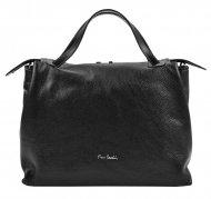 Pierre Cardin Kožená větší dámská kabelka do ruky černá