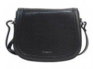 Černá oblá crossbody dámská kabelka v hadím designu NEW BERRY