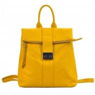 Kožený dámský módní batůžek Patrizia Piu banánová žlutá