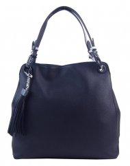 Tmavě modrá moderní kabelka přes rameno s hadími ramínky 4896-BB