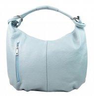 Kožená dámská kabelka přes rameno Reba světle modrá