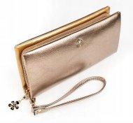 Zlatá dámská peněženka s obvodovým zipem v krabičce MILANO DESIGN