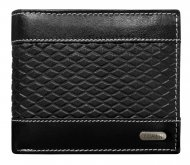 Černá pánská kožená peněženka RFID v krabičce LOREN