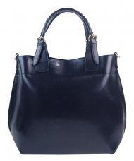 Velká tmavě modrá dámská shopper kabelka 3435-MM