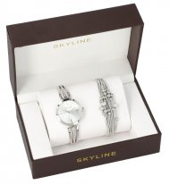 SKYLINE dámská dárková sada stříbrné hodinky s náramkem 2950-18