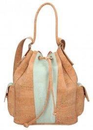 Korková mentolově zelená dámská kabelka