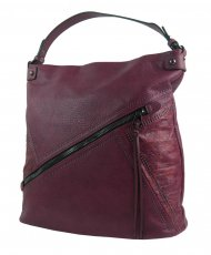 Velká vínová dámská kabelka přes rameno 5120-BB