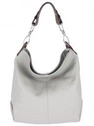 Kožená dámská kabelka Shaila světle šedá