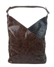 Moderní dámská kabelka přes rameno 5140-BB kávově hnědá