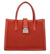 DAVID JONES Cihlově červená dámská kabelka v proplétaném designu 6423-3