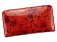 PATRIZIA PIU luxusní červená dámská kožená peněženka RFID v dárkové krabičce