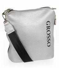 Stříbrná dámská crossbody kabelka M303 GROSSO