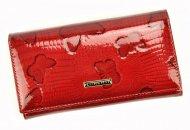 Lorenti Kožená červená dámská peněženka s motýly v dárkové krabičce