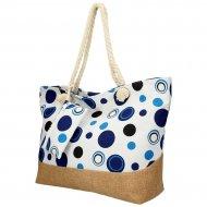Velká plážová taška přes rameno v retro stylu modrá B6805