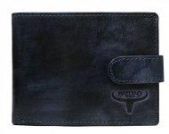 Kožená tmavě modrá pánská peněženka RFID v krabičce BUFFALO WILD