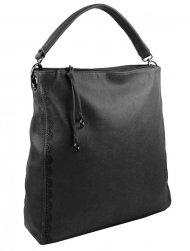 VELKÁ moderní dámská kabelka 5134-BB tmavě šedá