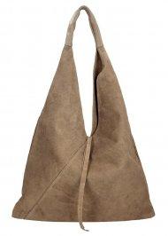 Kožená velká dámská kabelka přes rameno Alma hnědá přírodní