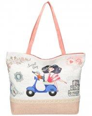 Sweet & Candy Velká plážová taška s potiskem M2