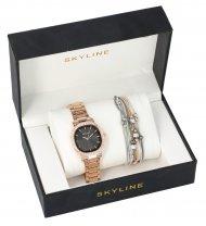 SKYLINE dámská dárková sada zlaté hodinky s náramkem 2950-22