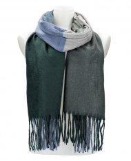Barevná smaragdově zelená teplá dlouhá zimní šála 207x65 cm