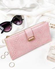 Růžová hadí dámská peněženka v dárkové krabičce MILANO DESIGN