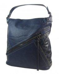 Velká tmavě modrá dámská kabelka přes rameno 5120-BB