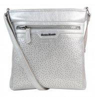 Stříbrná elegantní dámská crossbody kabelka 4151-MM