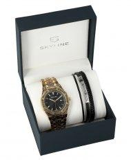 SKYLINE pánská dárková sada hodinky s náramkem 2850-4