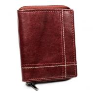Kožená vínová menší pánská peněženka RFID v krabičce ALWAYS WILD